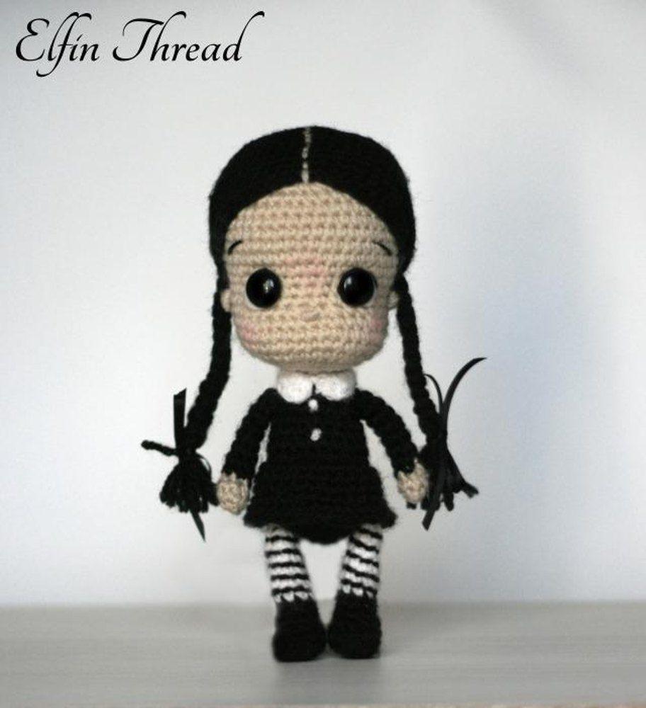 Wednesday Addams Chibi Doll | Pinterest | Miércoles addams, Muñecas ...