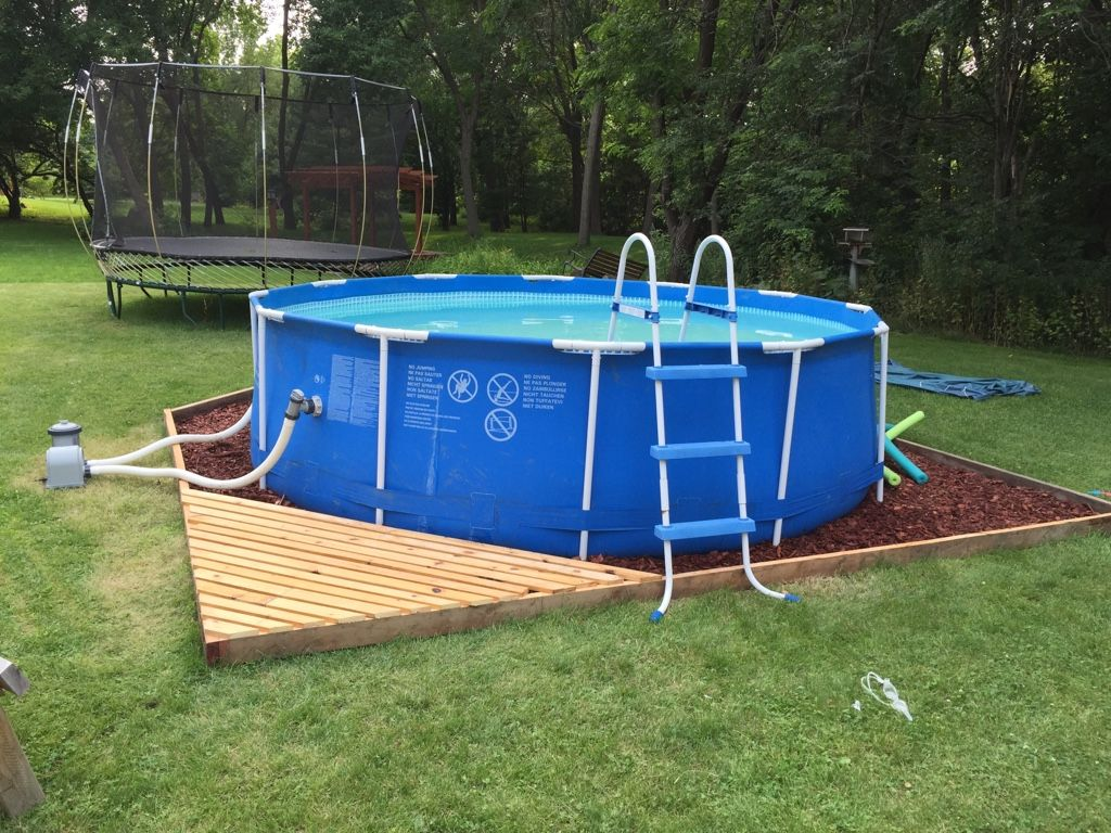 Trouble free pool yard pinterest free pool free and for Above ground pool border ideas