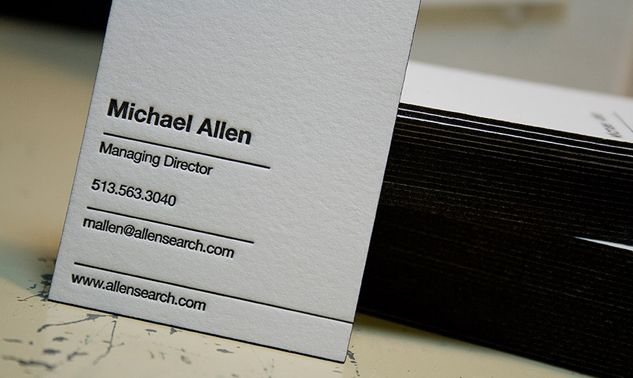 Interesting! Executive search, Headhunter and Employment Agency - letterpress business card