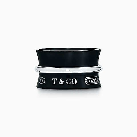 Tiffany 1837 wide belt cuff in titanium and sterling silver, large Tiffany & Co.
