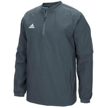 ADIDAS MENS NEW LONG SLEEVE HOT 1//4 ZIP JACKET Baseball jacket gray navy sz M