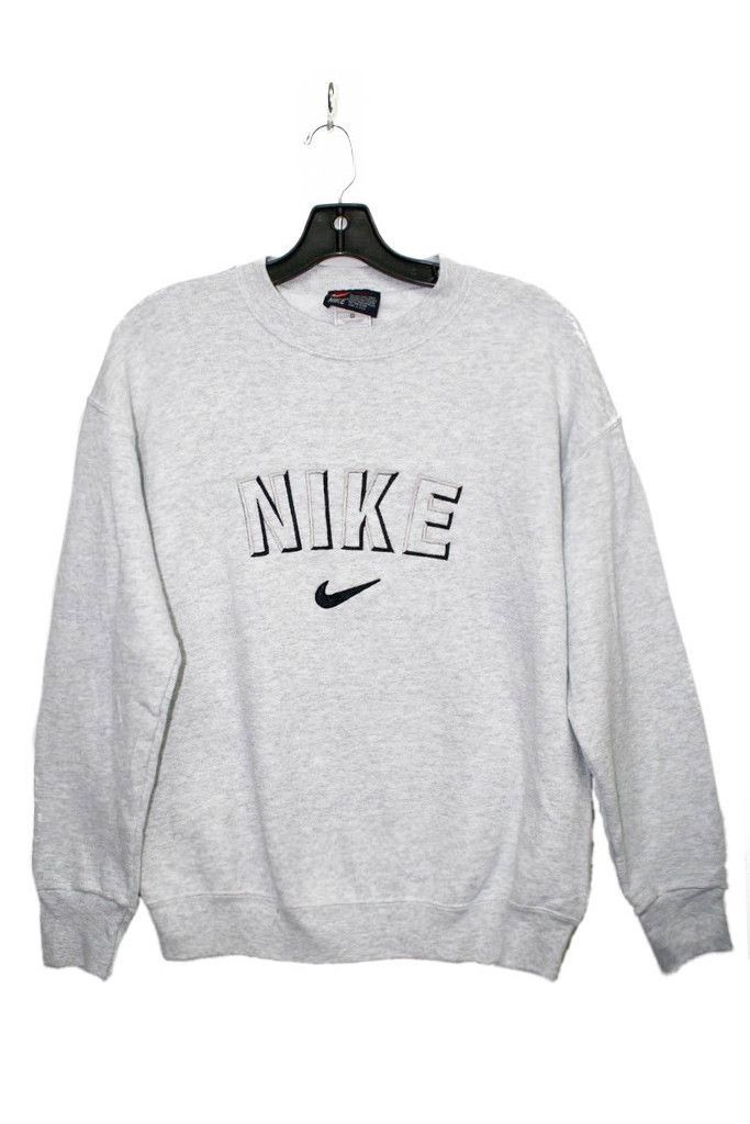 Vintage Nike Sweater - grey Women Size M chest 38