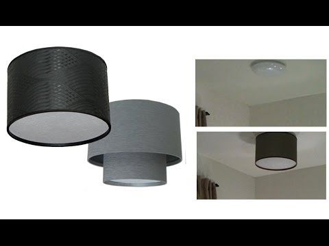 Have ugly ceiling fixtures in your small apartment? Cover them up ...