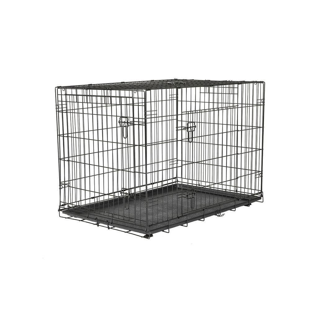 American Kennel Club 42 In X 30 In X 28 In Large Wire Dog Crate 308594akc The Home Depot Wire Dog Crates Dog Crate Large Dog Crate