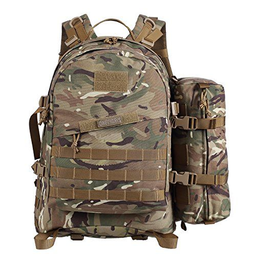 1b64cf8679 OneTigris BUSHCRAFTER 50L 3 Day Pack MOLLE Tactical Military Assault  Backpack Outdoor Sport Camping Hiking Trekking EDC Survival Rucksack  Multicam -- Learn ...