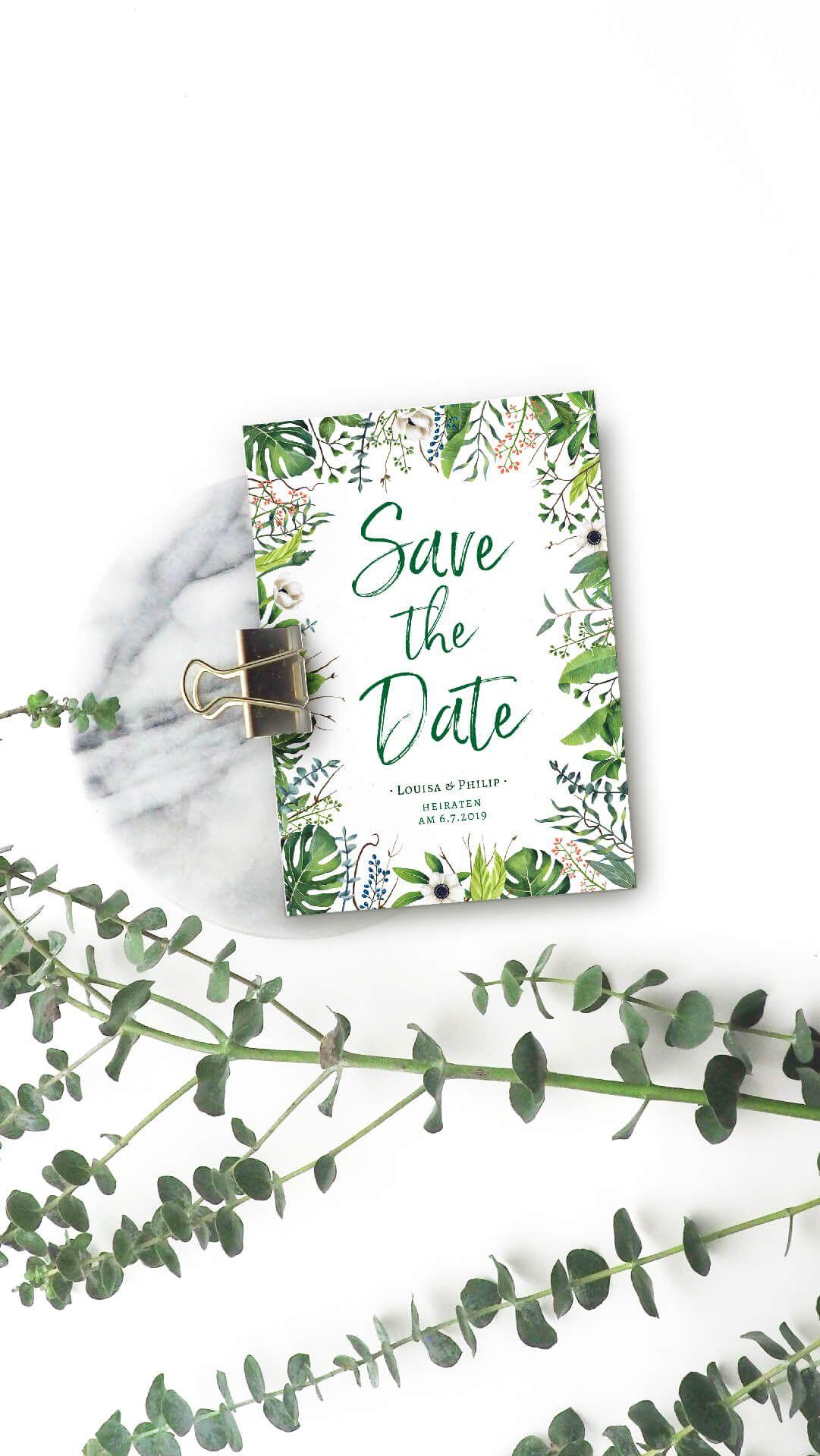 Paradies Im Grunen Hochzeitskartendesign Shop Pinterest Shopping