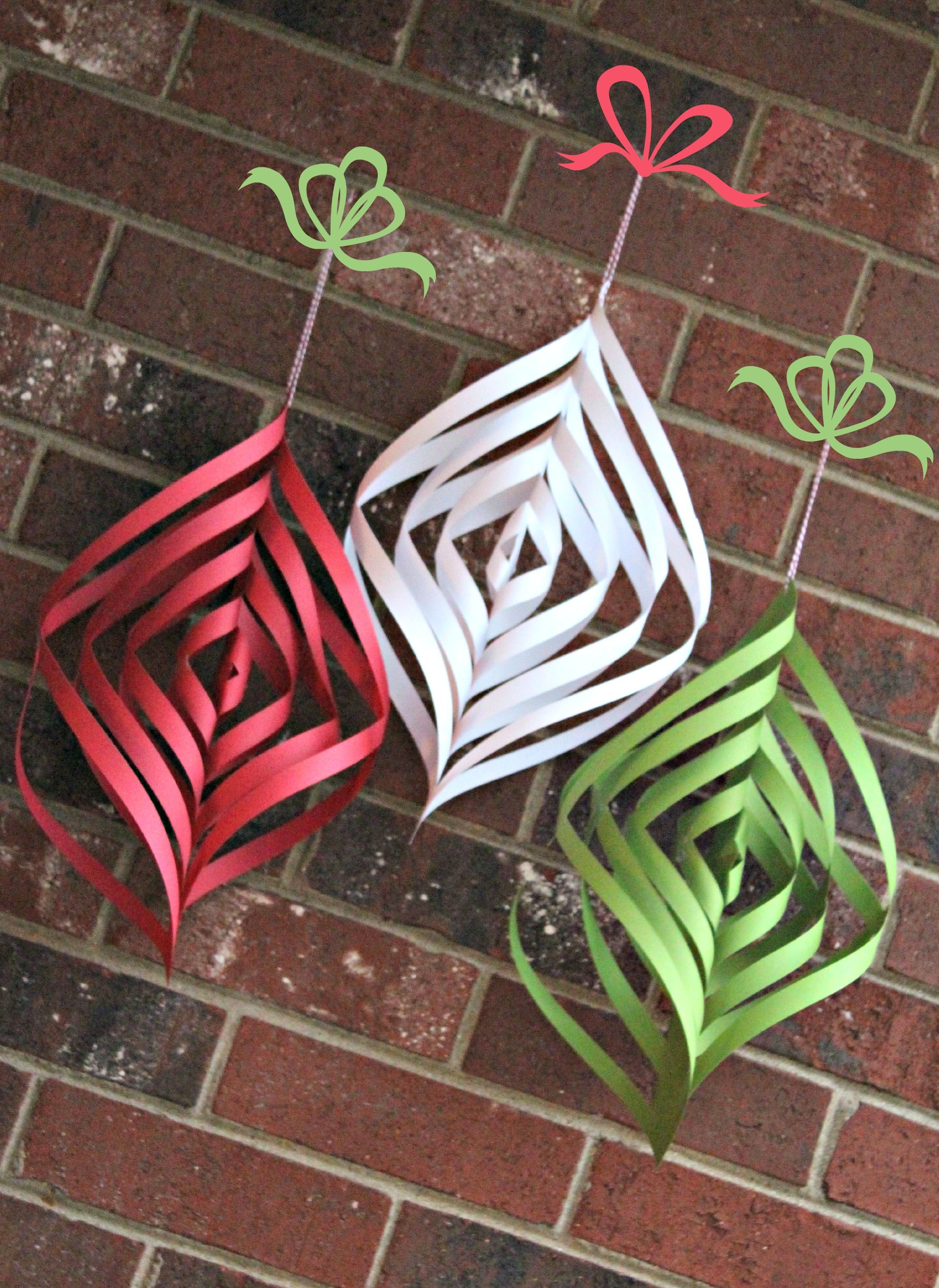 Christmas ornaments DIY paper Christmas ornament spirals