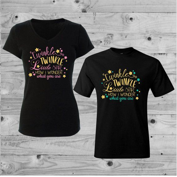 a12785b4 Twinkle Twinkle Little Star Gender Reveal Shirts, Gender Reveal, Mommy and  Daddy Shirts, Boy or Girl