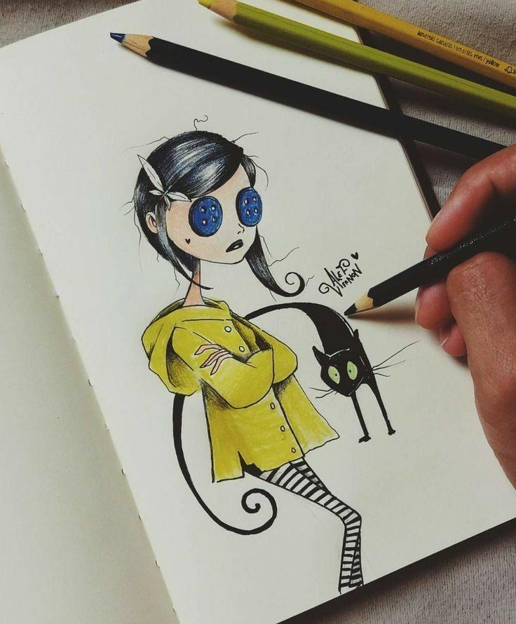 Coraline Coraline Tim Burton Drawings Tim Burton Art Tim Burton Art Style