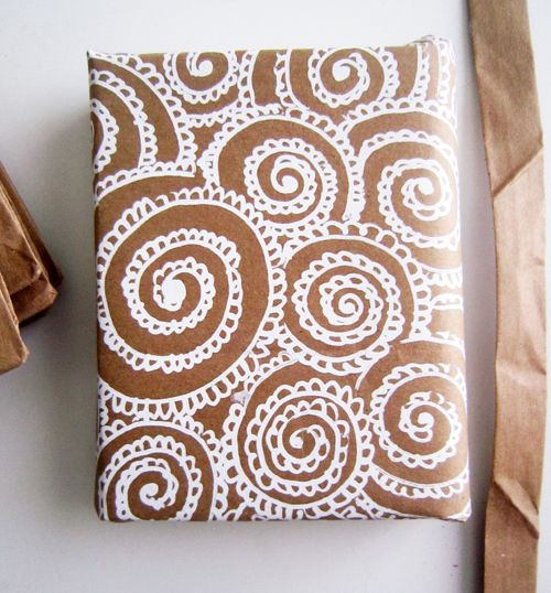 Wrapping paper with paper bags