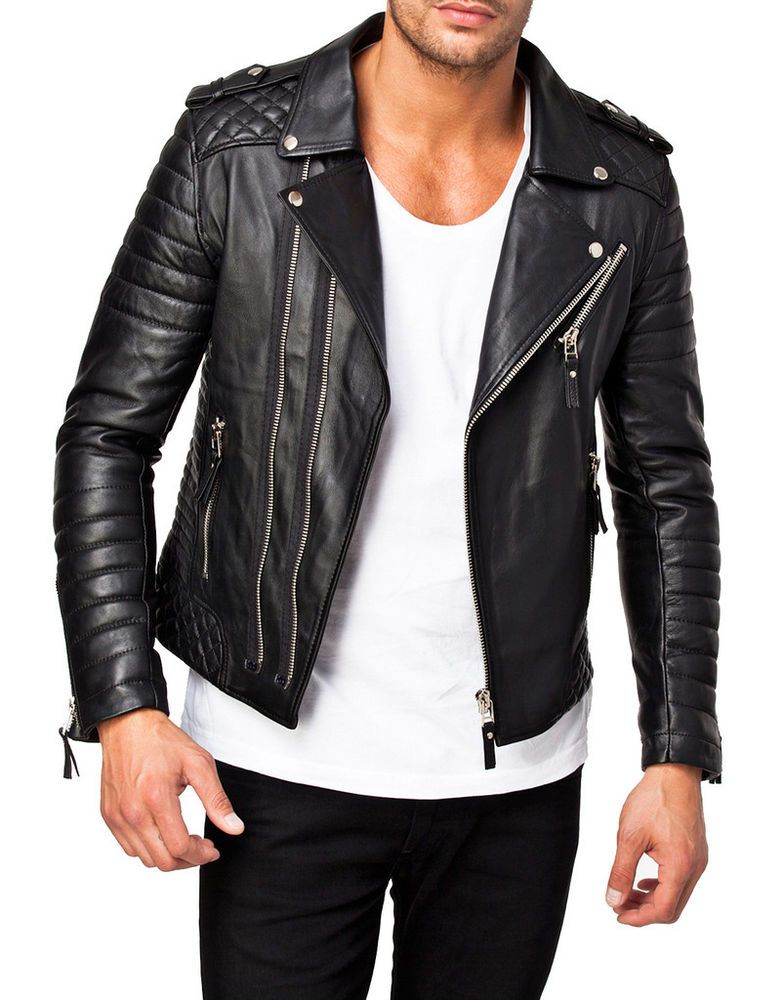 New Arrival Men Real Lambskin Motorcycle Premium Quality Leather