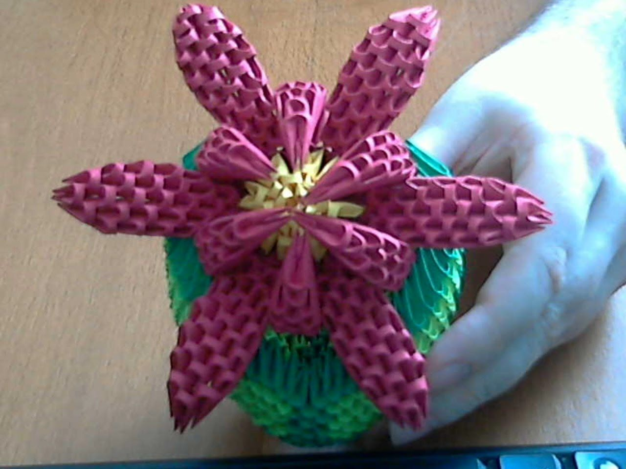 How to make 3d origami flower model2 part1 origami how to make 3d origami flower model2 part1 mightylinksfo