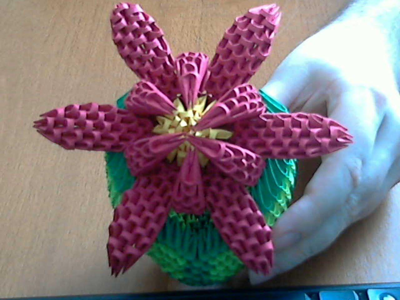 How To Make 3d Origami Flower Model2 Part1 Origami Pinterest
