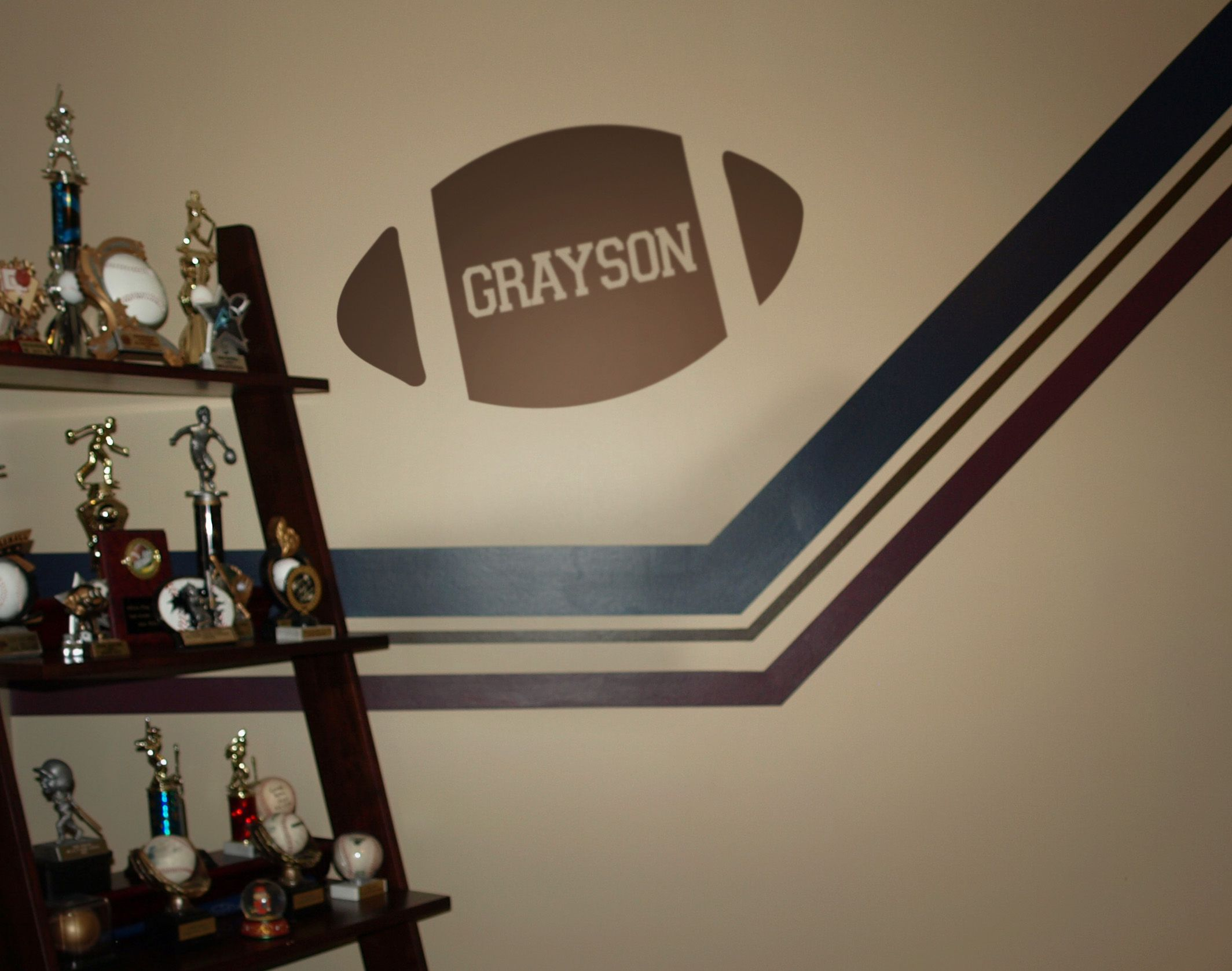 Great design for your football fan- young or old. Personalize with a name, number or even a family/last name