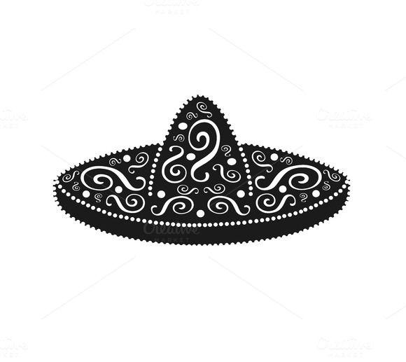 Sombrero Mexican Ornament Vector Concert Poster Design Sombrero Mexican