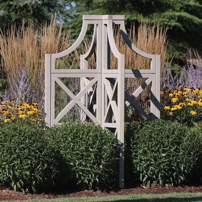 Four Sided Shape For Free Standing Trellis In Our Wind