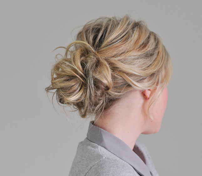 Throw Messy Hair Up Into A Carefree Bun