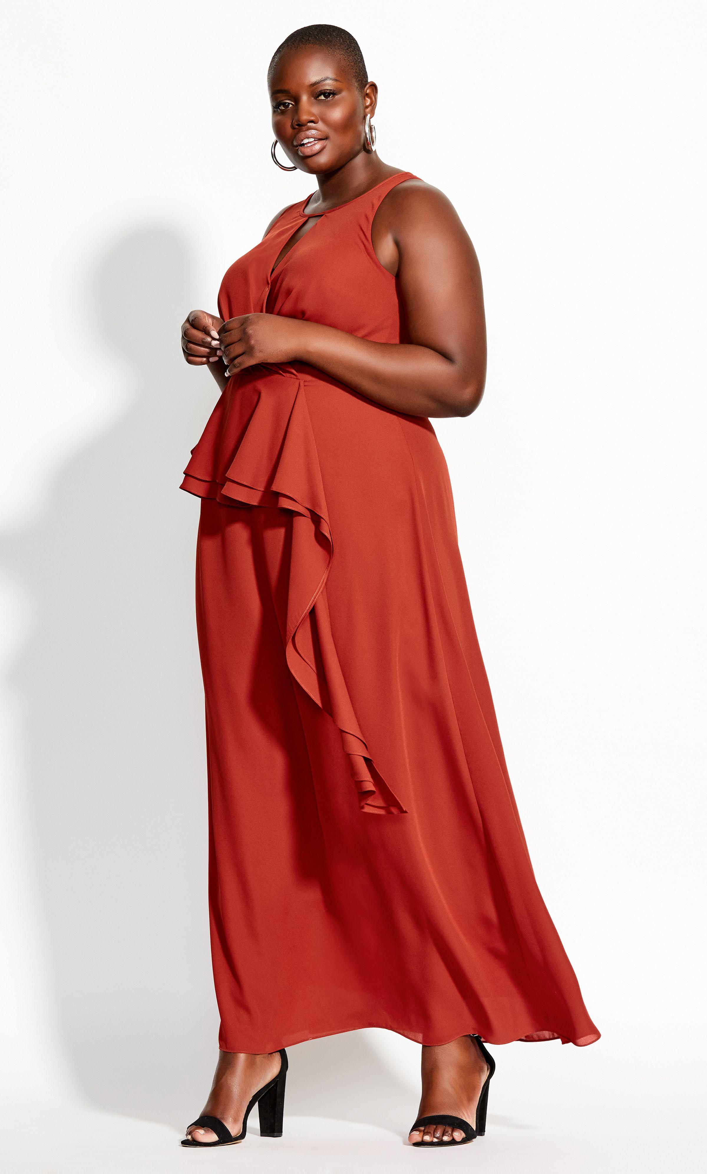 Cascade Skirt Maxi Dress Rust In 2020 Maxi Dress Rust Dress Dresses