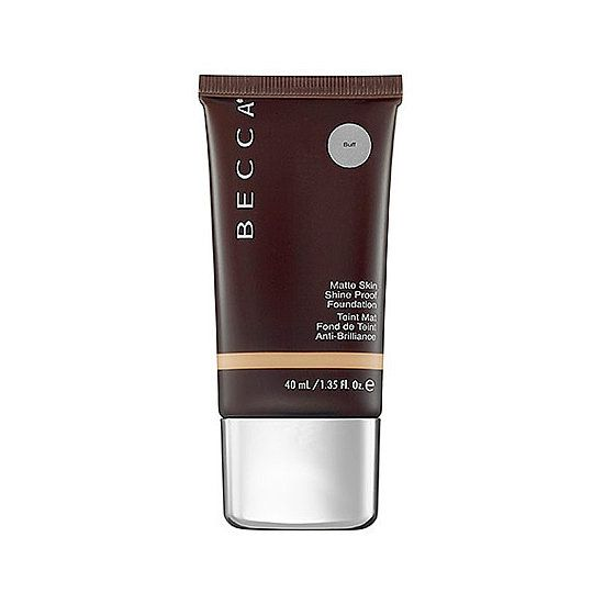 Becca Cosmetics Matte Skin Shine-Proof Foundation ($42) — perfect for combination-to-oily skin. Gives a matte look that's not too flat.