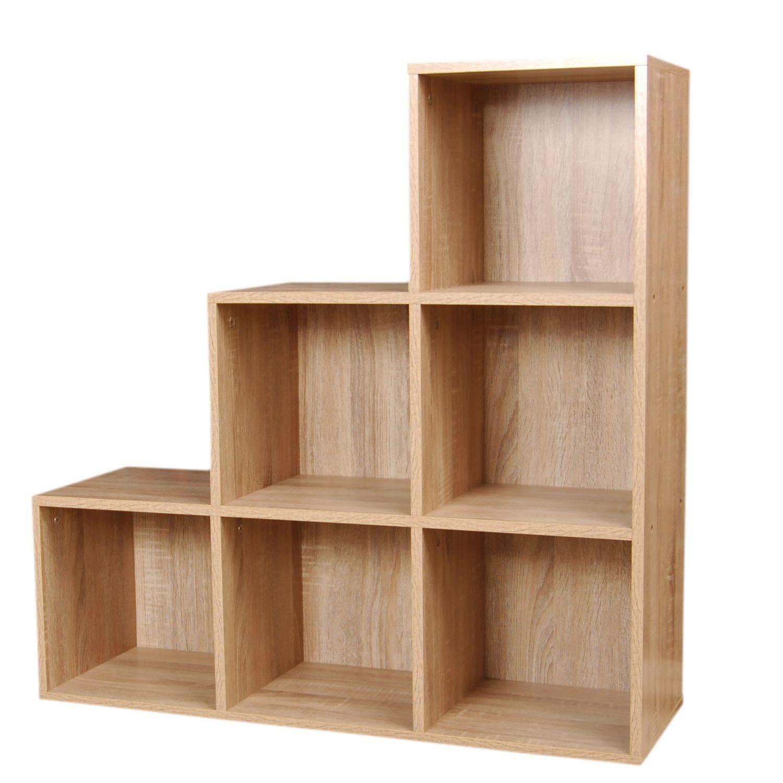 LPD Furniture floating 1 cube square shelf oak