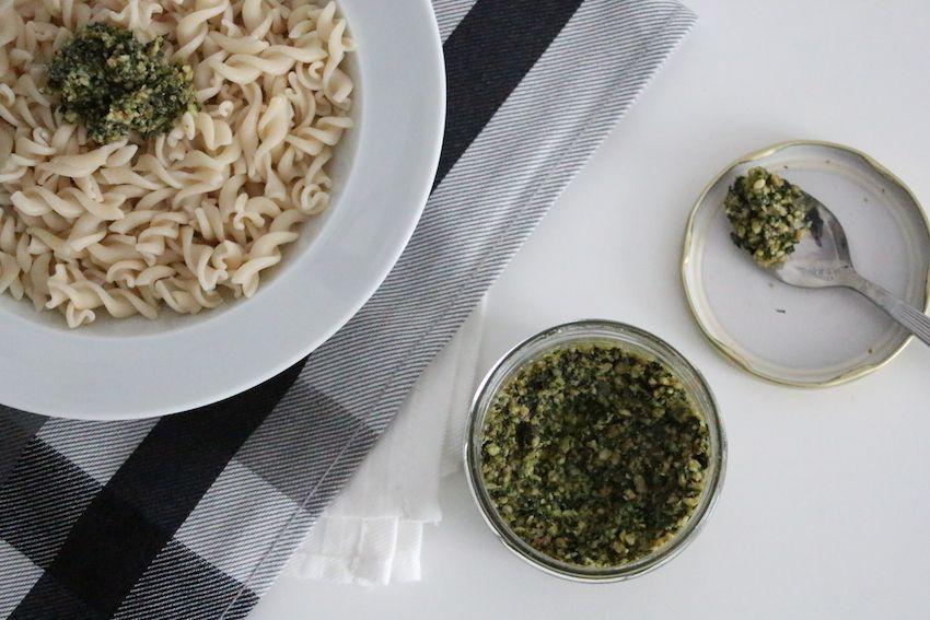 pates au pesto sans gluten et vegan