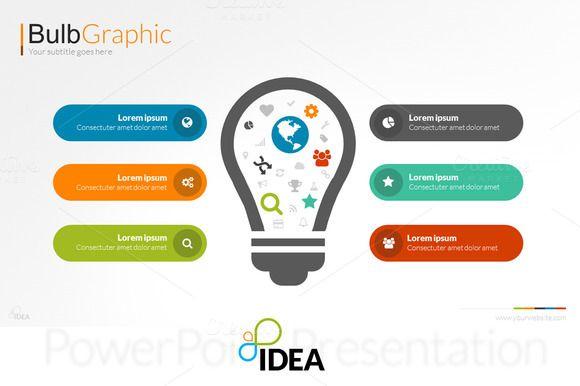 Idea Flat PowerPoint Template - Presentations - 4