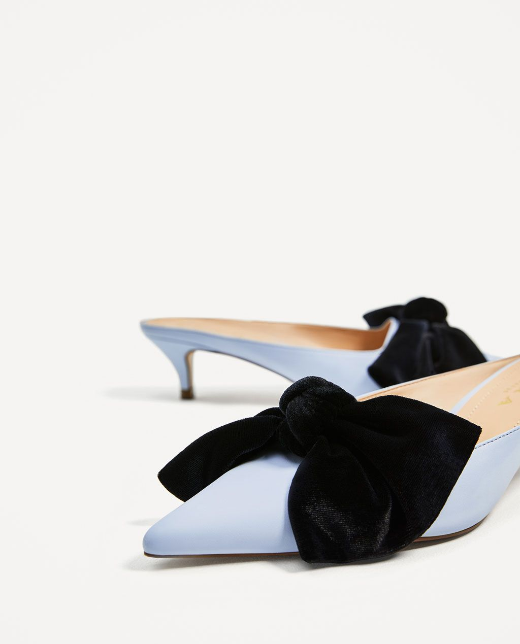 84038df168d HEELED MULES WITH BOW-High-heels-SHOES-WOMAN