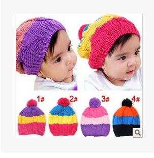 82f2943c076 Click to Buy    Real Rabbit Fur Knitted Baby Caps Cute Baby Photography