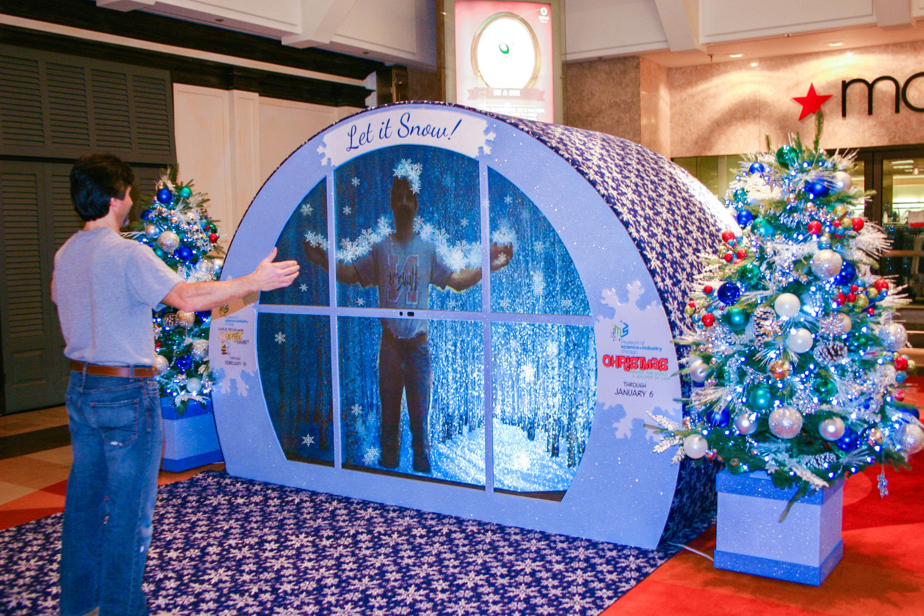 Customers Enjoy Novel Interactive Holiday Sets At Water Tower Place For More Information On Ce Commercial