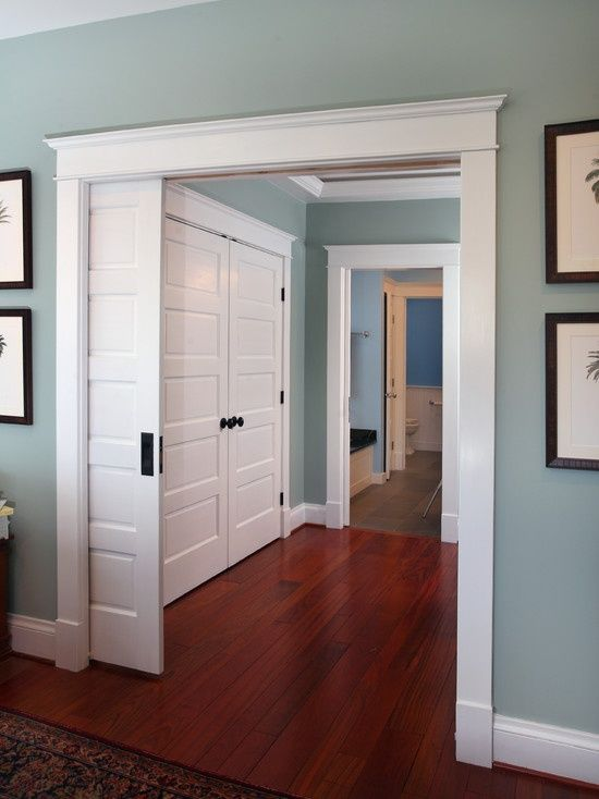 Pleasant Valley Blue - Benjamin Moore Stairs and carpet tiles