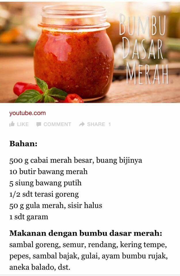 Bumbu Dasar Merah : bumbu, dasar, merah, Bumbu, Dasar, Merah, Resep, Masakan,, Makanan,, Masakan, Indonesia