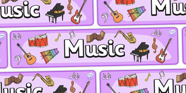 Image result for music banner twinkl