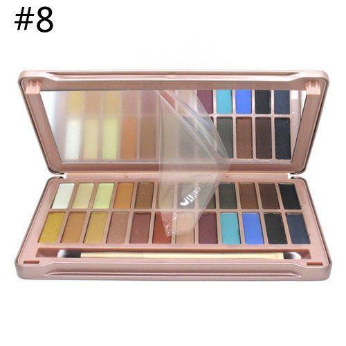 Brand makeup nake eye shadow original NK 1 2 3 4 5 6 7 8 Eyeshadow palette cheap makeup basics pallet Matt shadows with brush Alternative Measures