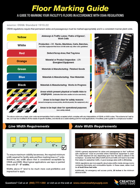 If you are updating your facilities floor marking system