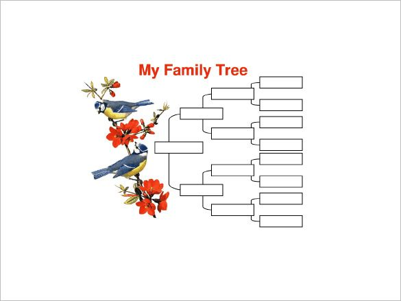 Four Generation Family Tree Template   Free Word Excel Pdf