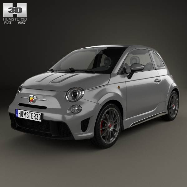 Fiat 500 Abarth 695 Biposto 2014 3d Model From Humster3d