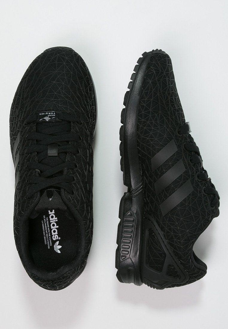 adidas Originals ZX FLUX - Sneakers laag - core black ...