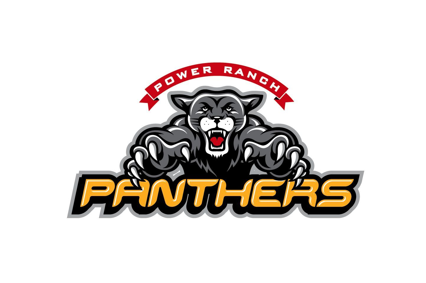 power ranch elementary middle school panthers mascot logo