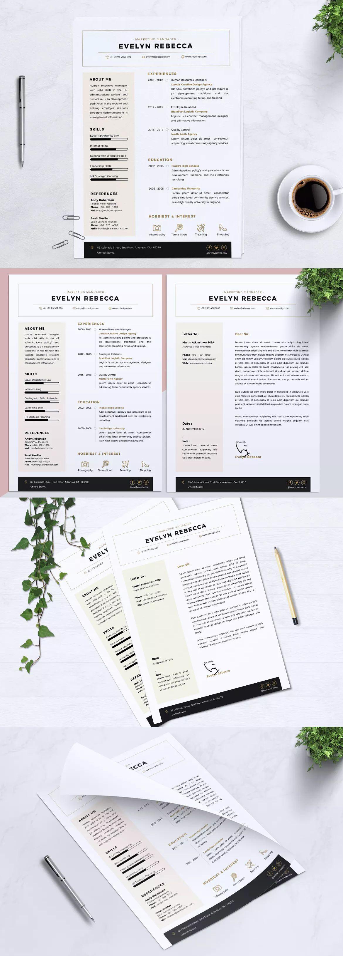 Minimalist CV Resume Vol. 33 by RahardiCreative on Cv