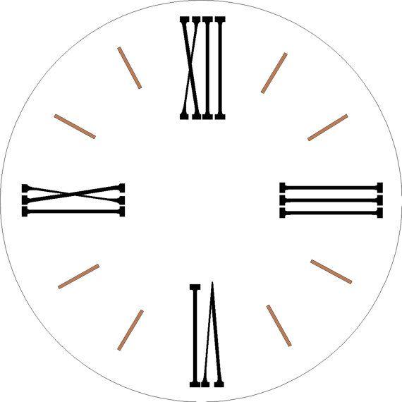 Farmhouse Clock One Set 12 Separate Single Use Roman
