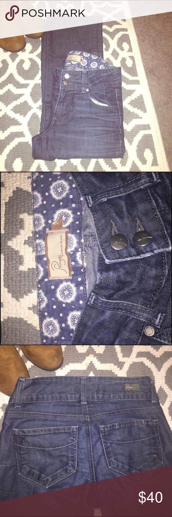 """Paige Jeans Boot Cut Hidden Hills Style """"Hidden Hills."""" Bootcut Wide leg. High Rise. Size 24 (0). Used. I accept reasonable offers. Paige Jeans Jeans Boot Cut"""