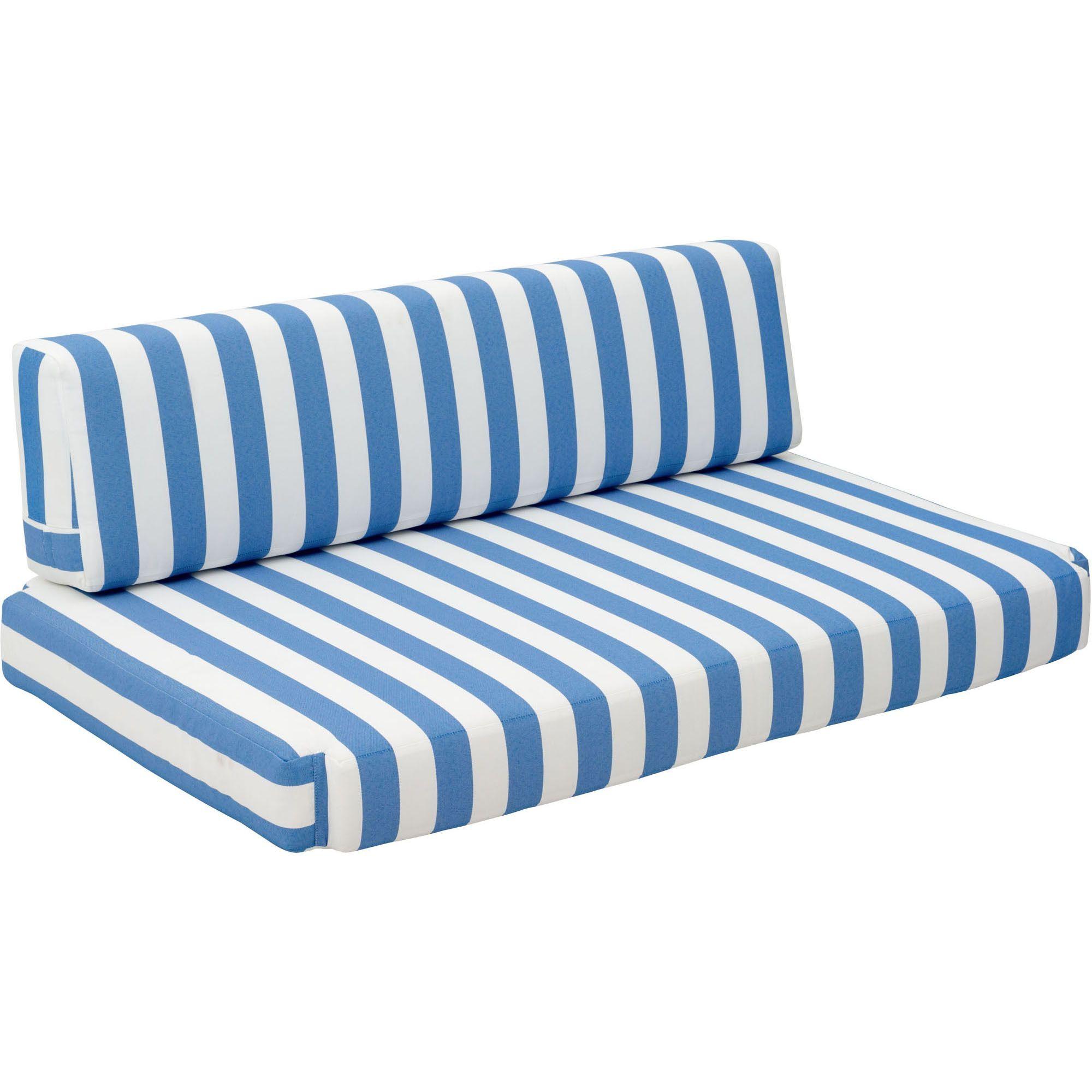 Bilander Outdoor Sofa Cushion Blue U0026 White