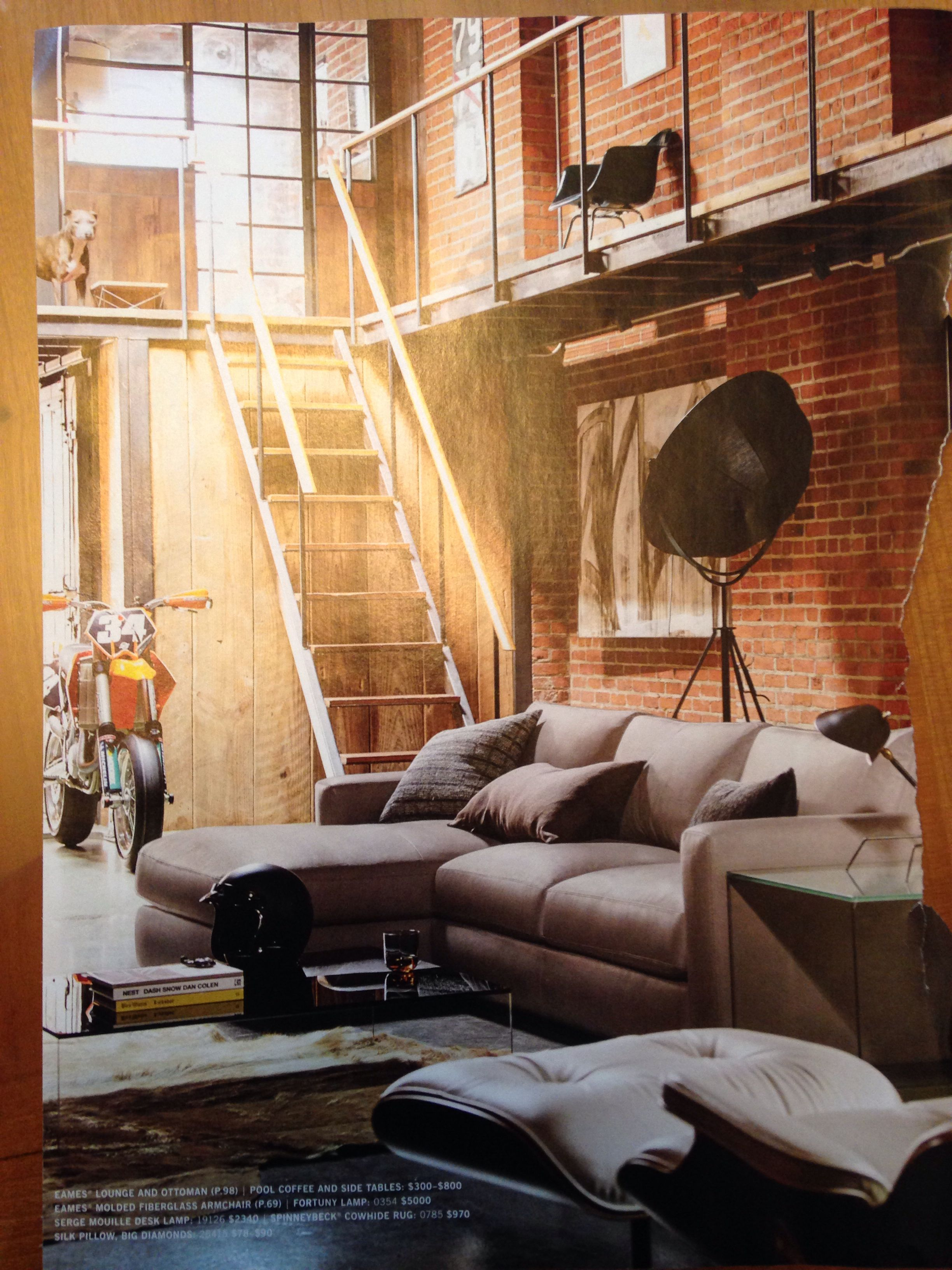 Love This Rustic Yet Modern Loft Like Space From The Feb Design