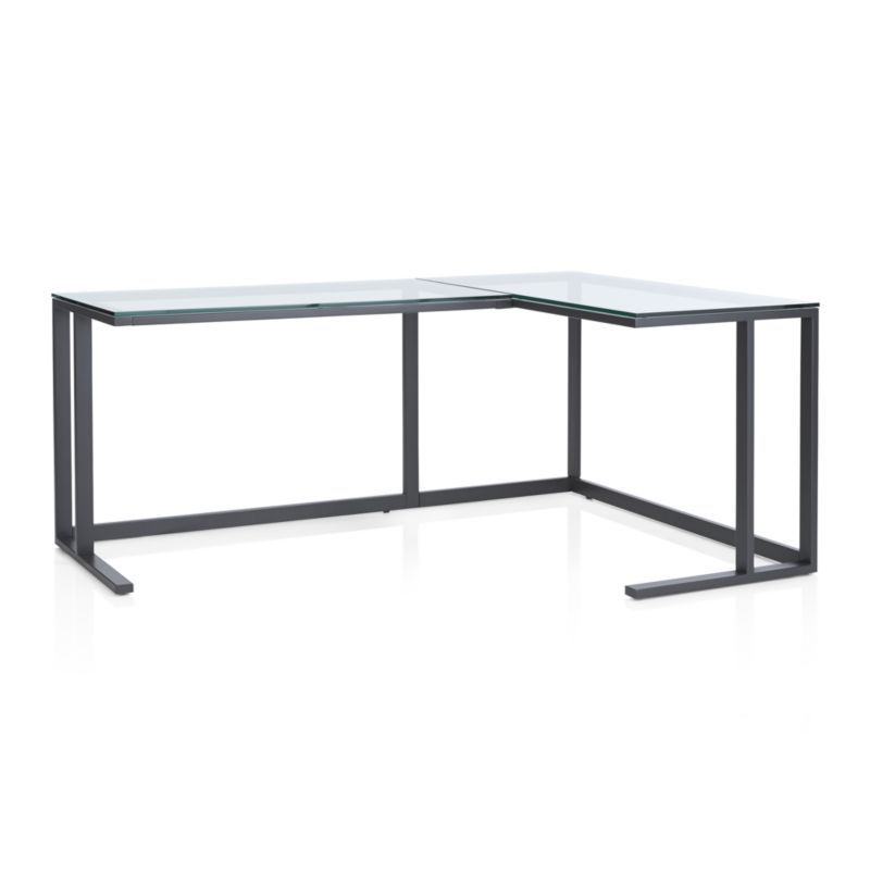 Pilsen Graphite Corner Desk Crate And Barrel