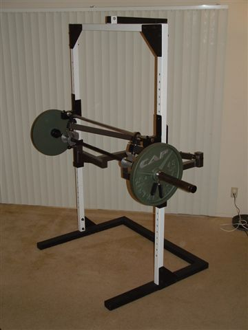 Power spot self spotting barbell and dumbbell machine home gym