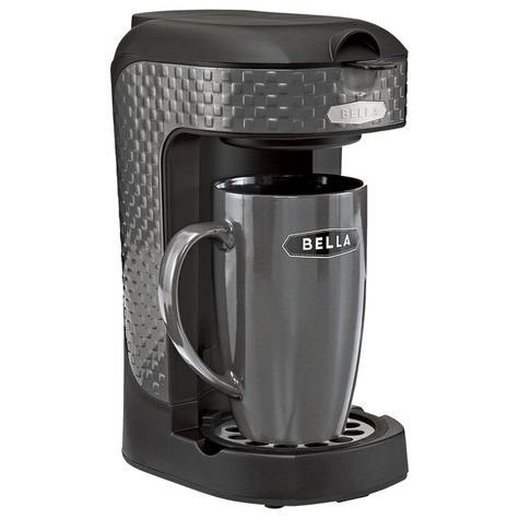 Bella One Scoop One Cup Single Serve Black Coffee Maker Single