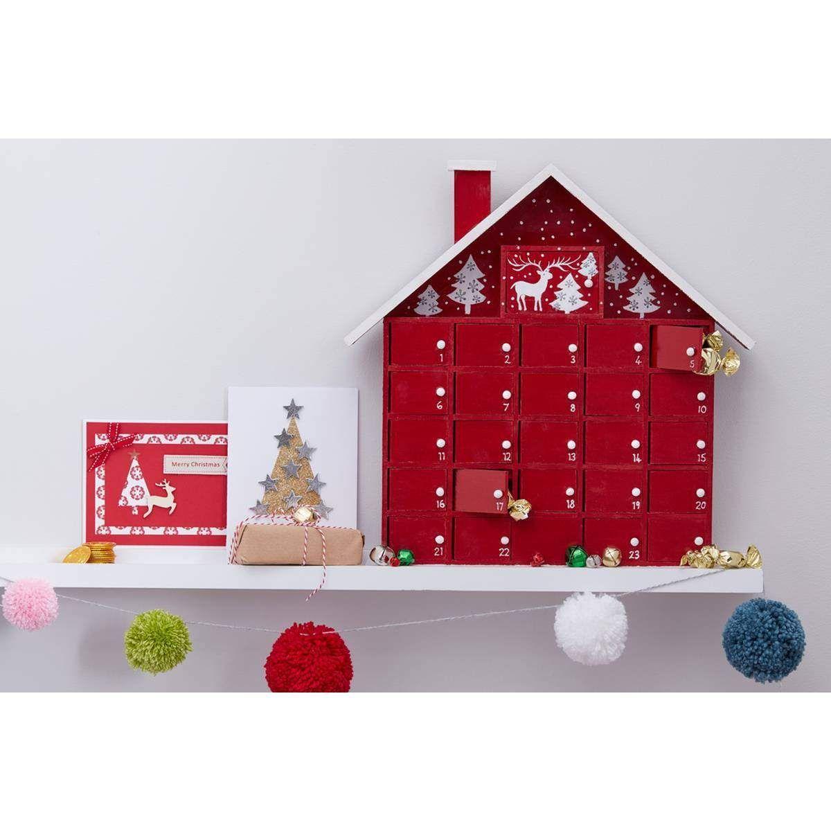 Wooden house advent calendar 40 cm hobbycraft christmas wooden house advent calendar 40 cm hobbycraft solutioingenieria Images