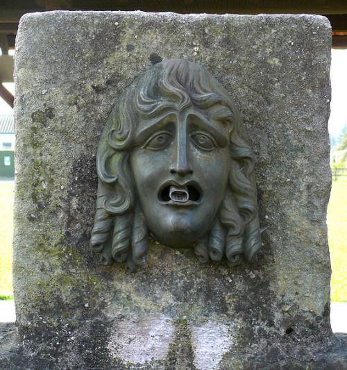 Roman public fountain head in Augusta Raurica (Augst, Switzerland)