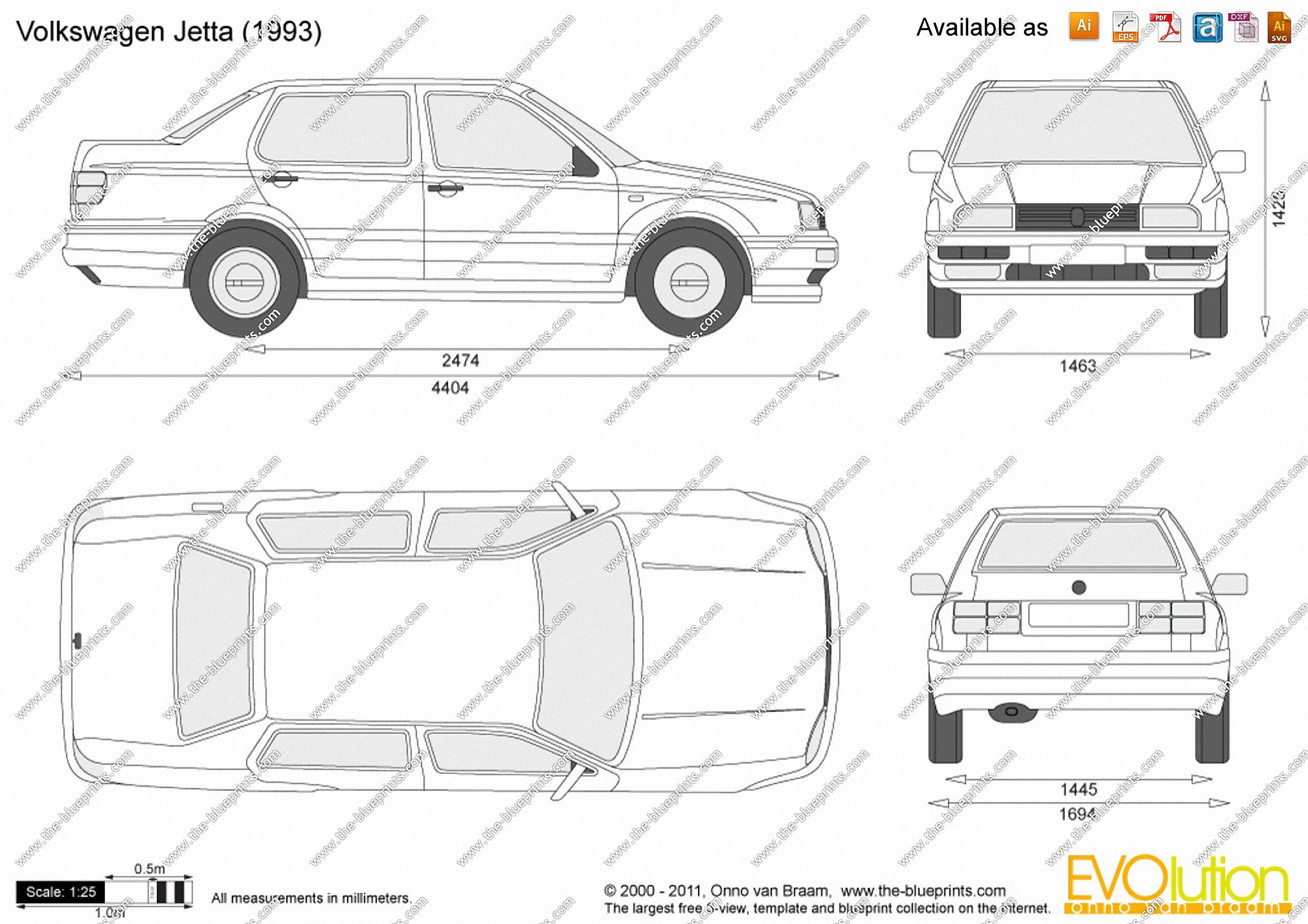 Volkswagen jetta 1993 blueprint database pinterest volkswagen jetta 1993 malvernweather Choice Image