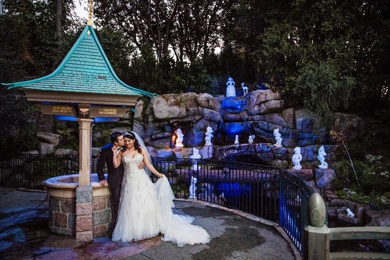 "Michelle and Brian's ""Happily Ever After"" Disneyland Wedding #Disneywedding #disneybride #disbride"